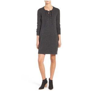 Madewell | Lace Up Merino Wool Sweater Dress XXS
